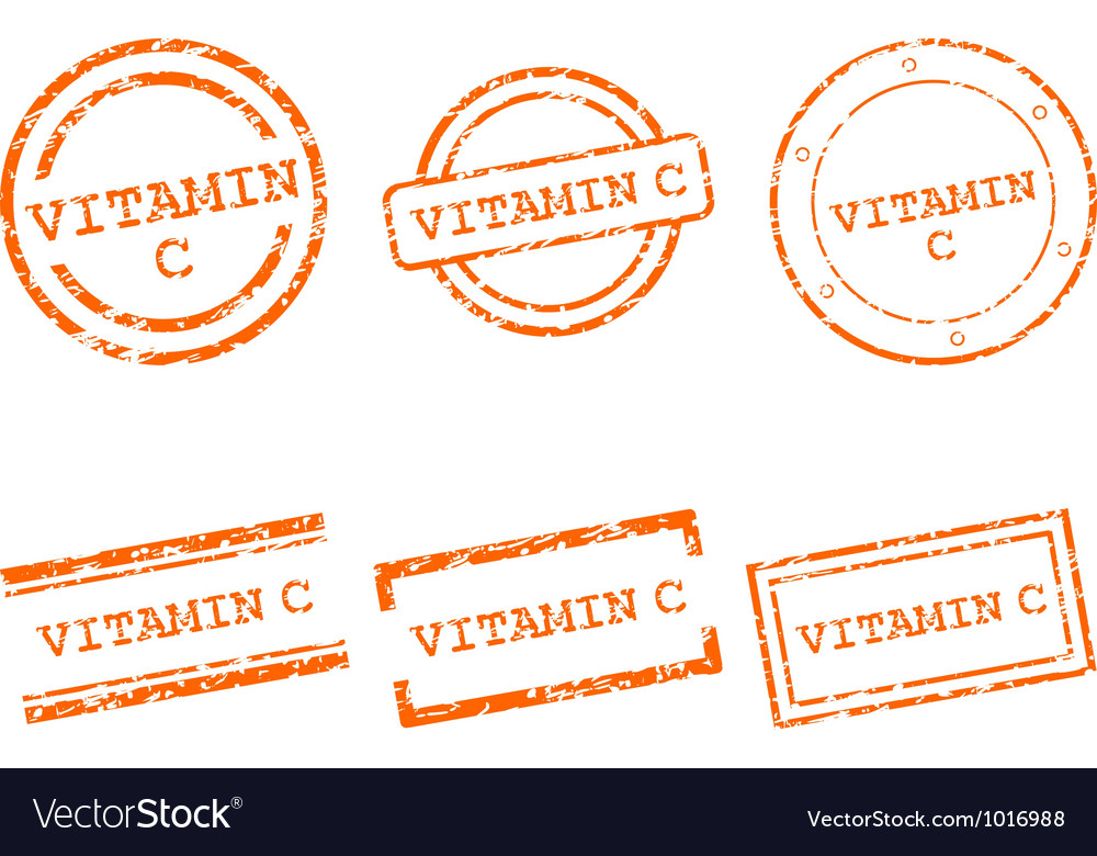 Vitamin c stamps vector | Price: 1 Credit (USD $1)
