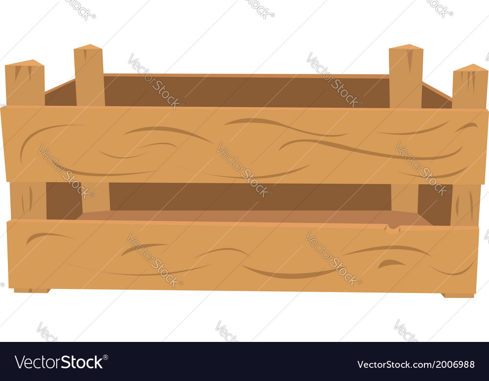 Wooden crate vector | Price: 1 Credit (USD $1)