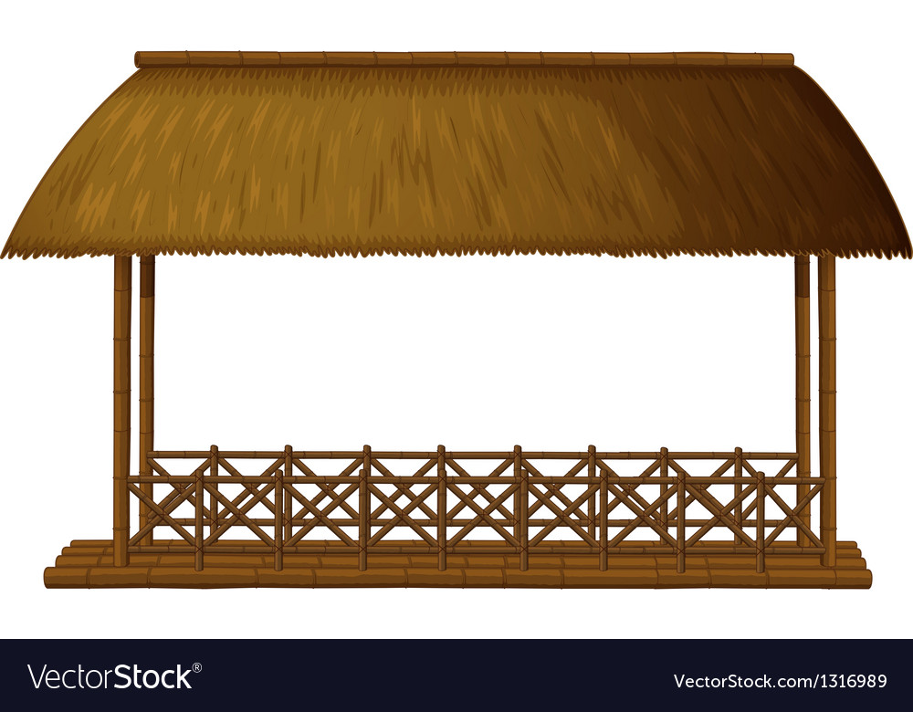 A wooden floating cottage vector | Price: 1 Credit (USD $1)