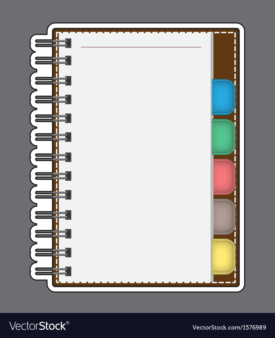 Blank paper with notebook outline vector | Price: 1 Credit (USD $1)