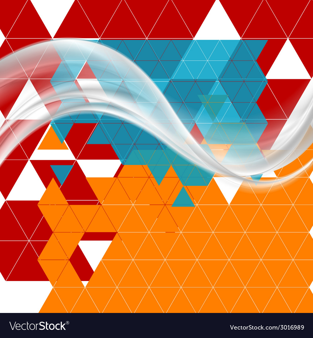 Bright tech futuristic background with waves vector | Price: 1 Credit (USD $1)