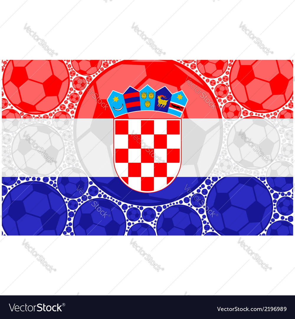 Croatia soccer balls vector | Price: 1 Credit (USD $1)