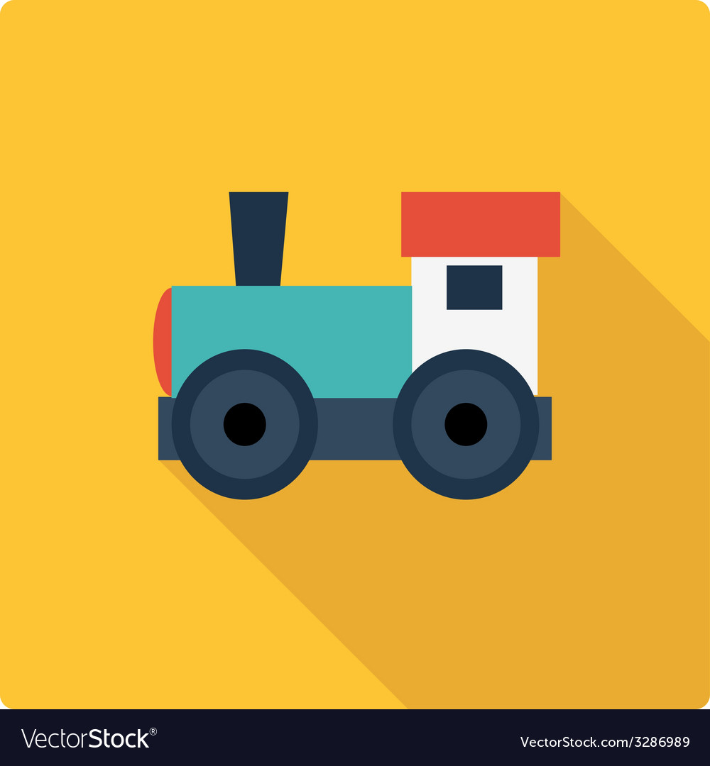 Little engine simple flat vector | Price: 1 Credit (USD $1)