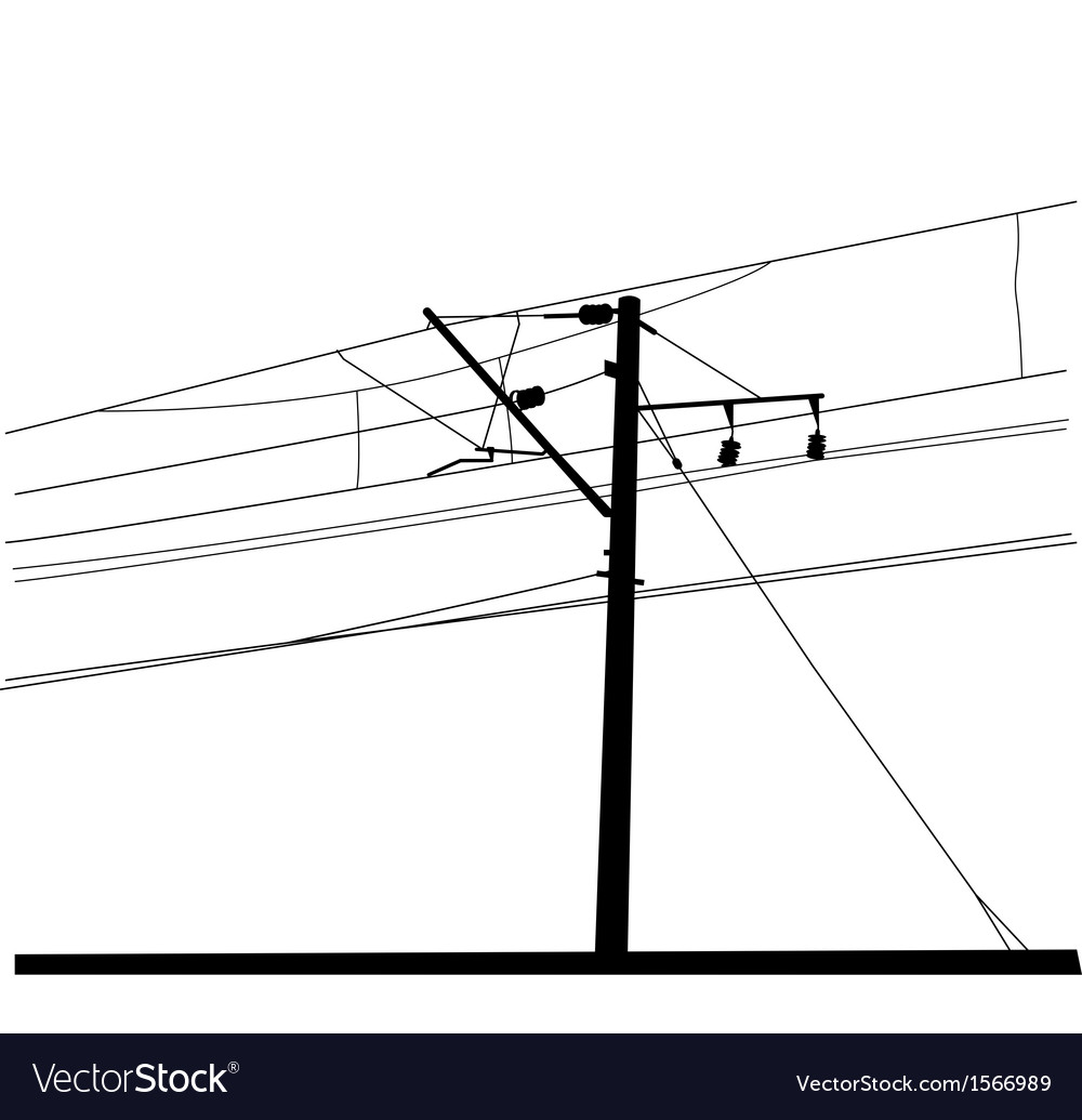 Railroad overhead lines contact wire vector | Price: 1 Credit (USD $1)