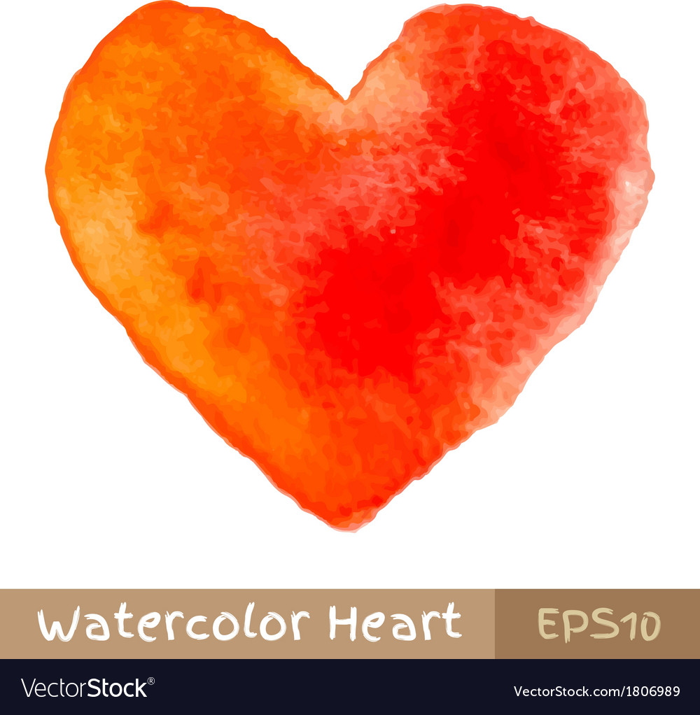 Red watercolor heart vector   Price: 1 Credit (USD $1)