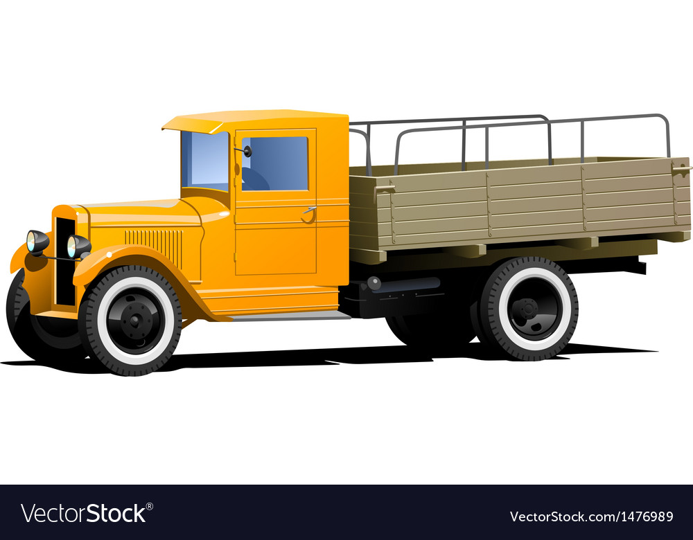 Retro lorry isolated vector | Price: 1 Credit (USD $1)