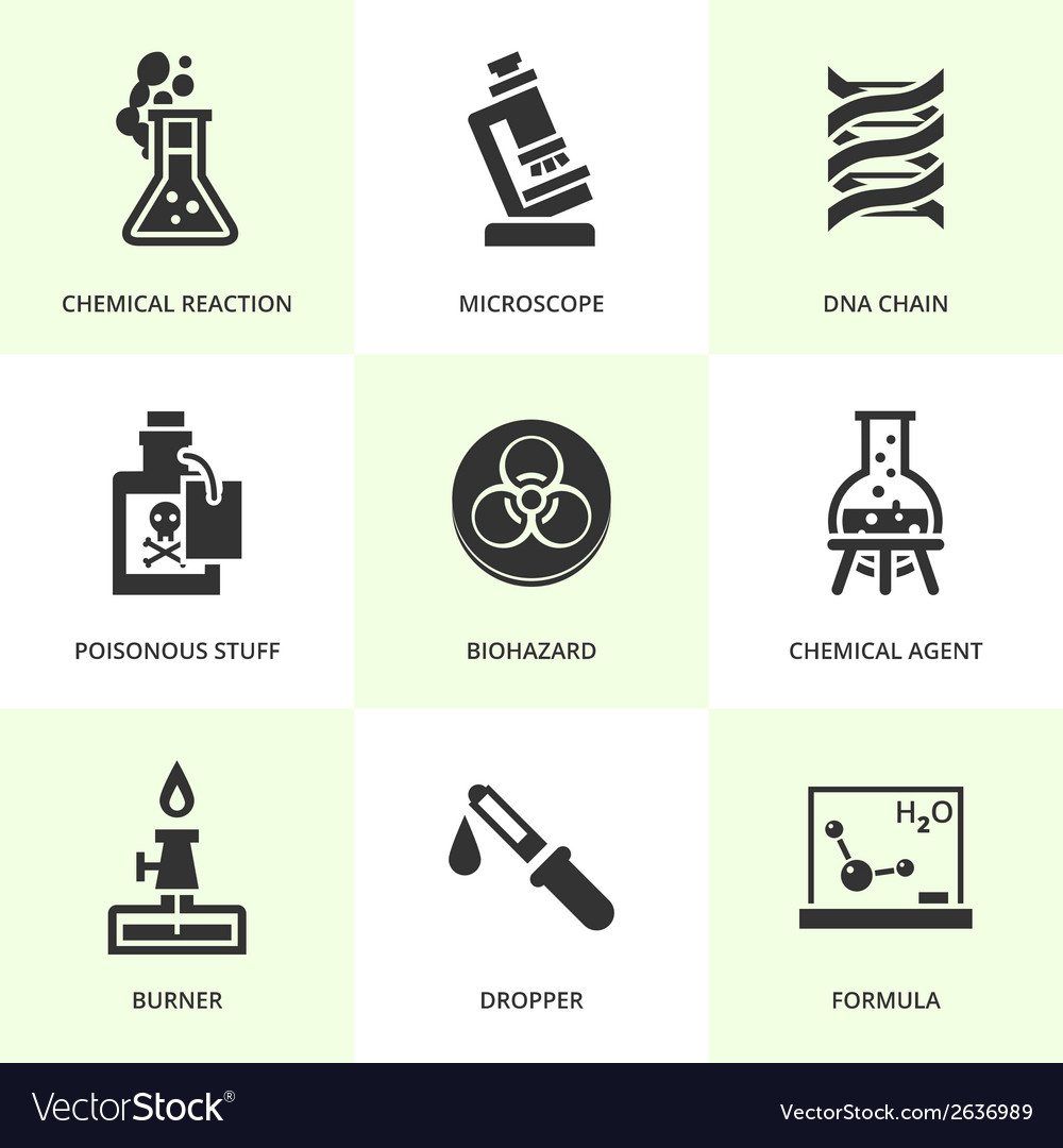 Set of black chemistry icons vector | Price: 1 Credit (USD $1)