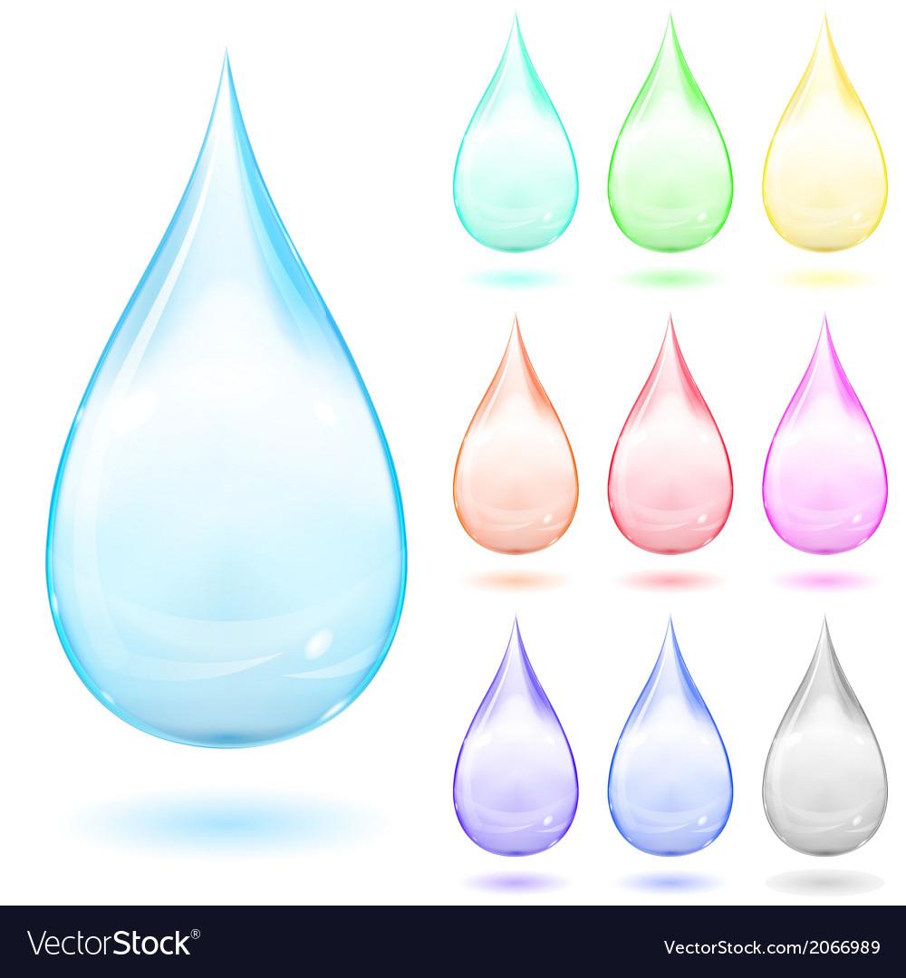 Set of multicolored drops vector | Price: 1 Credit (USD $1)