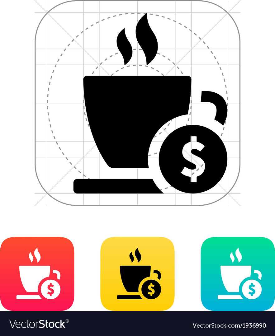 Cup price icon vector | Price: 1 Credit (USD $1)