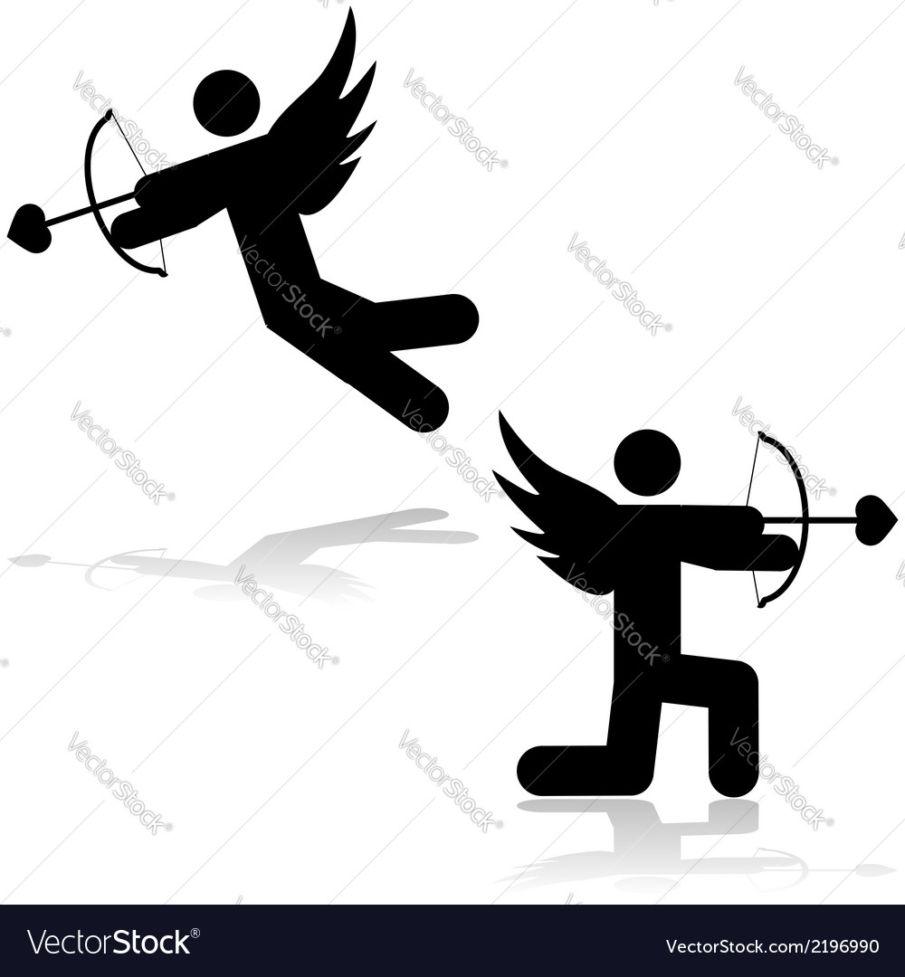 Cupid icon vector | Price: 1 Credit (USD $1)