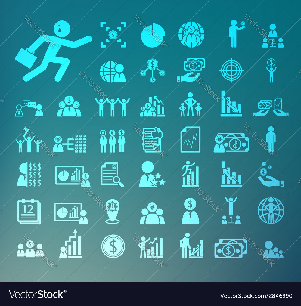 Human resource icons retina set vector | Price: 1 Credit (USD $1)