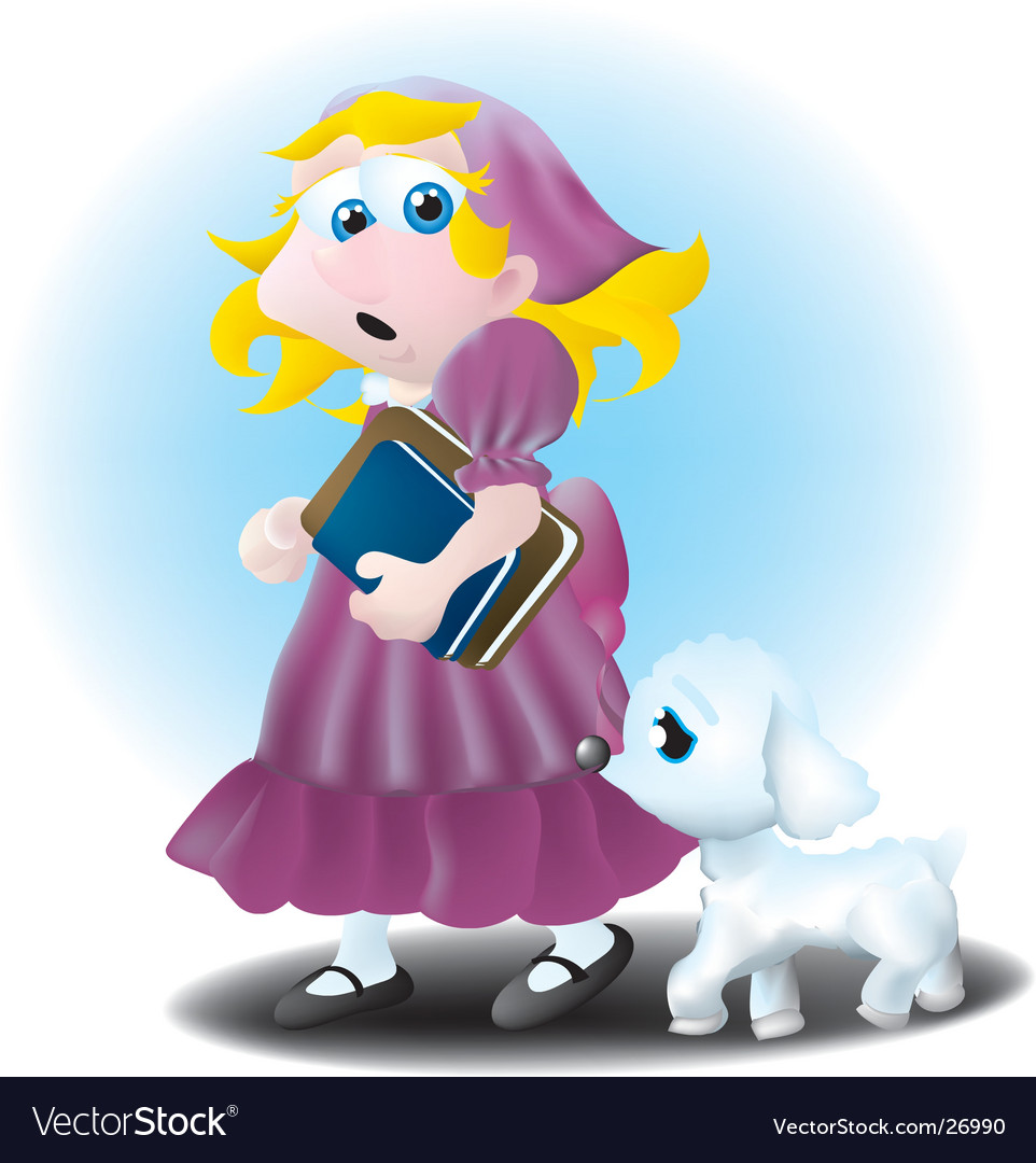 Mary had a little lamb vector | Price: 1 Credit (USD $1)