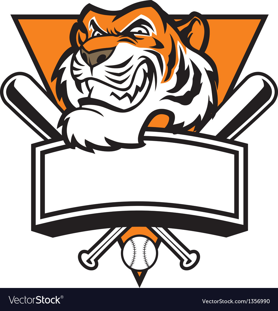 Mascot of tiger head base ball vector | Price: 1 Credit (USD $1)