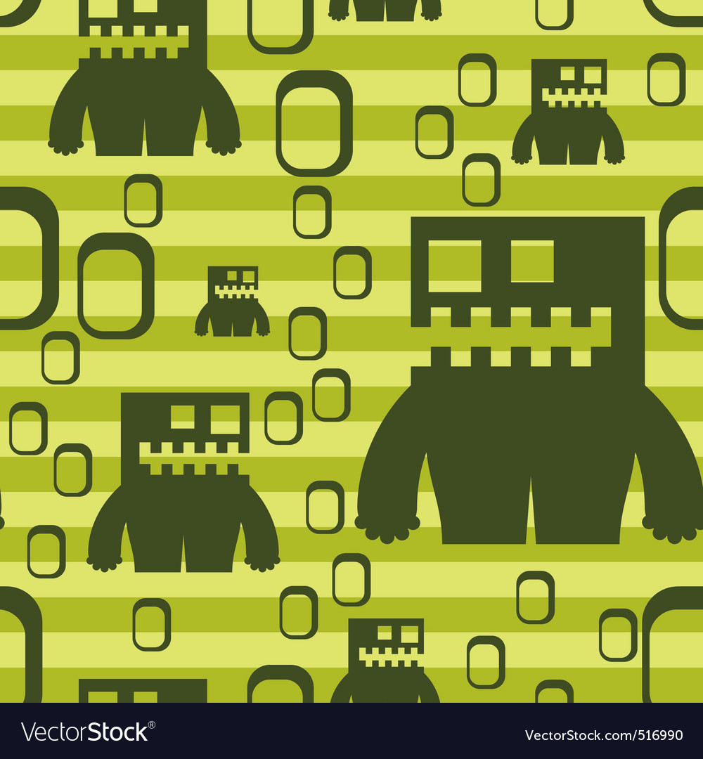 Monster pattern vector | Price: 1 Credit (USD $1)