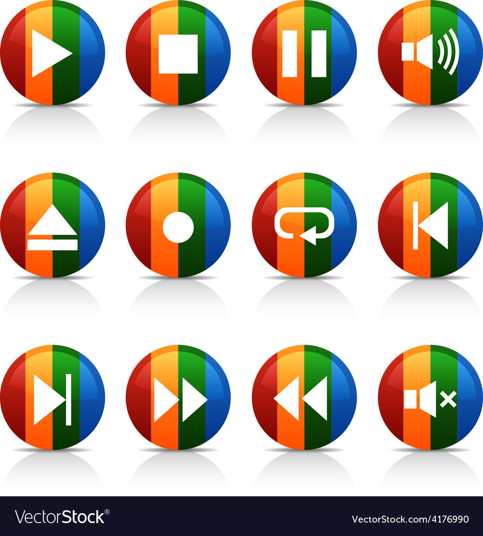 Player buttons vector   Price: 1 Credit (USD $1)