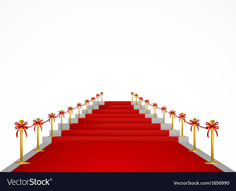 Red carpet and stairs for vip persons vector | Price: 1 Credit (USD $1)
