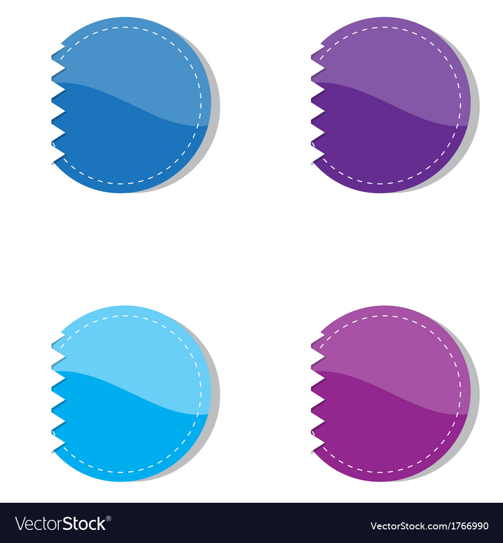 Set of violet and blue banners vector | Price: 1 Credit (USD $1)