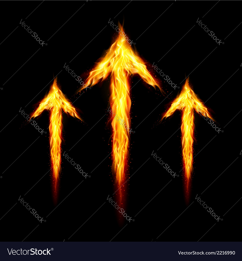 Three fire arrows vector | Price: 1 Credit (USD $1)
