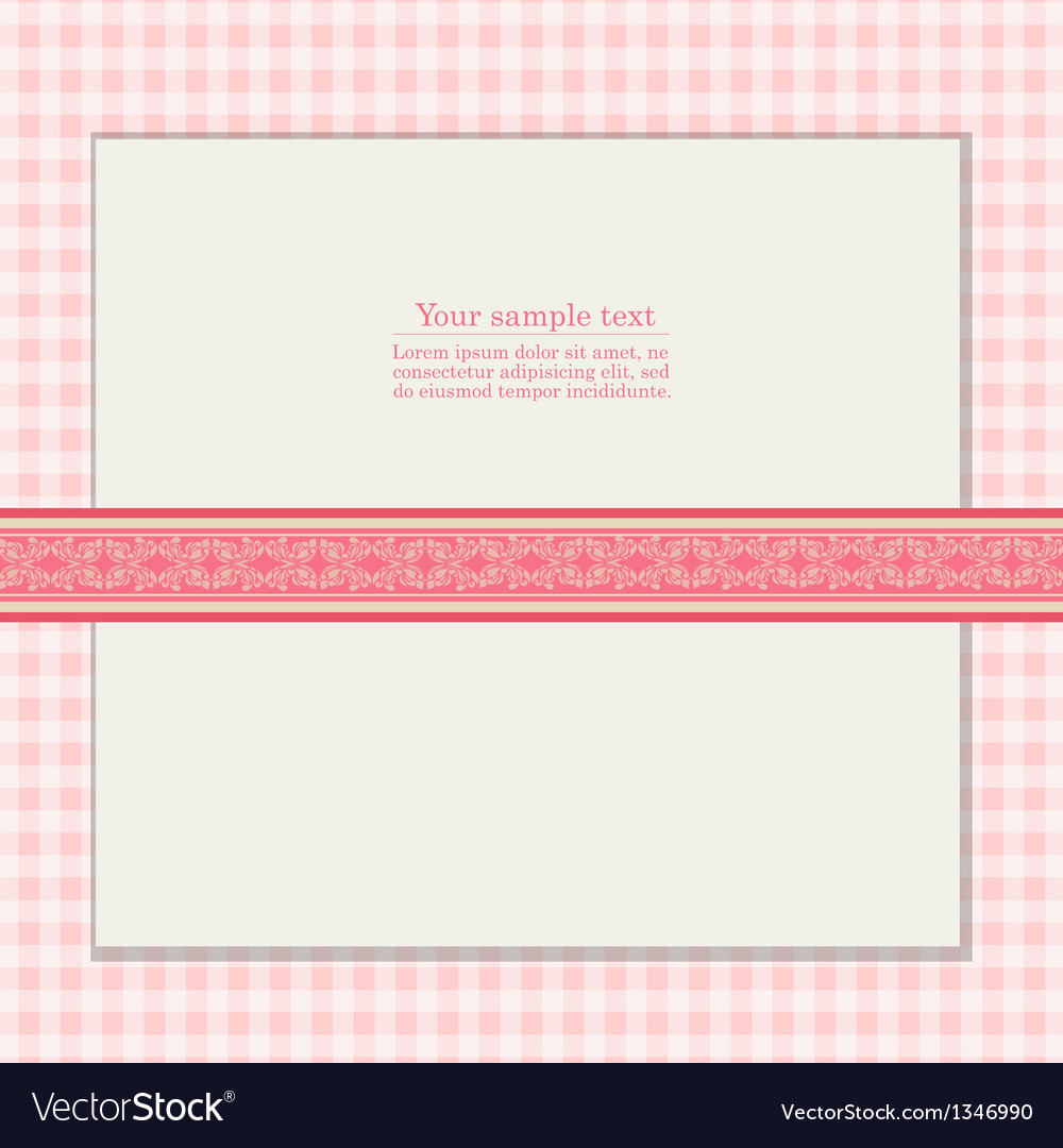 Vintage pink background for invitation card vector | Price: 1 Credit (USD $1)