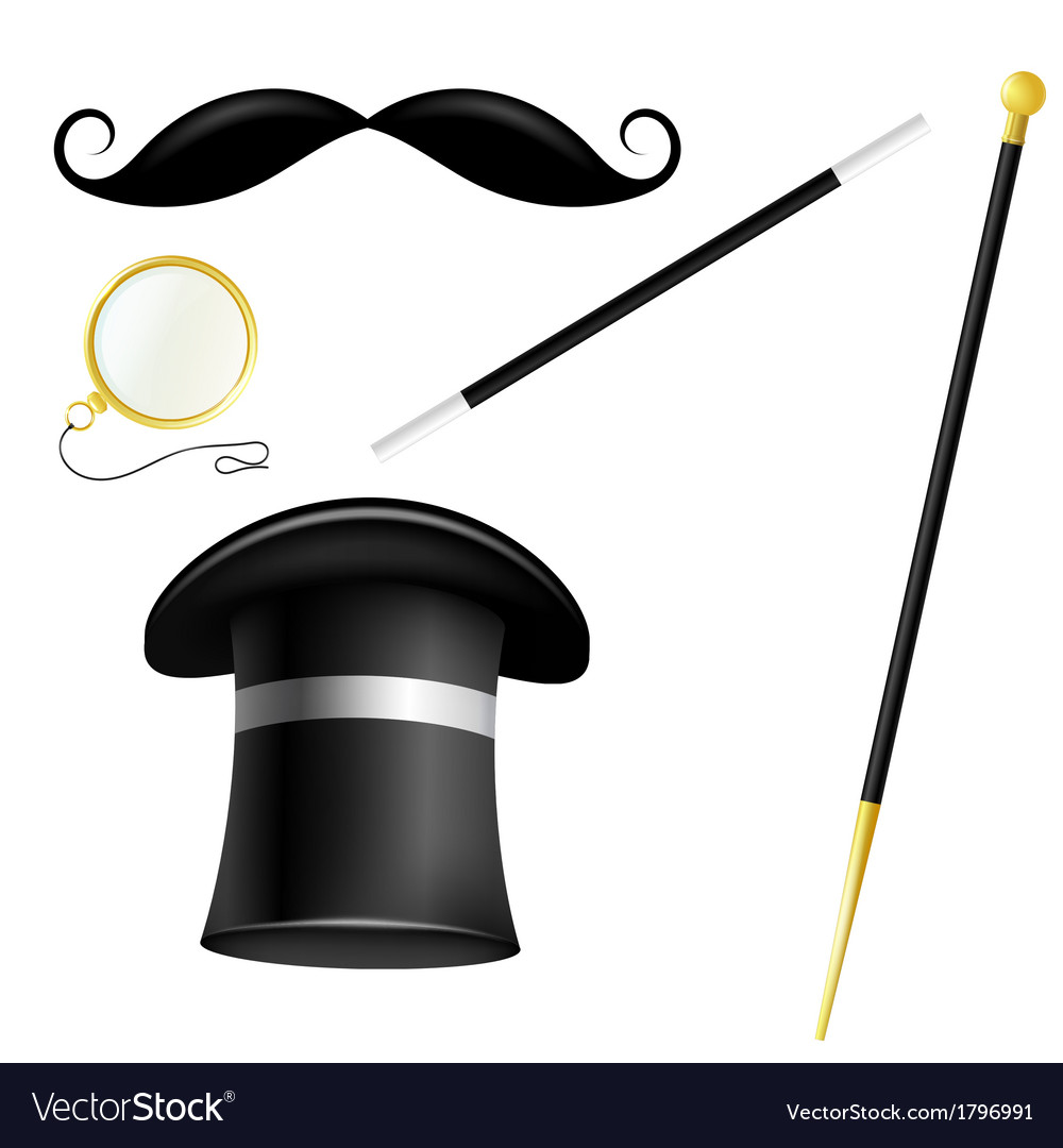 Accessory set english gentleman vector | Price: 1 Credit (USD $1)