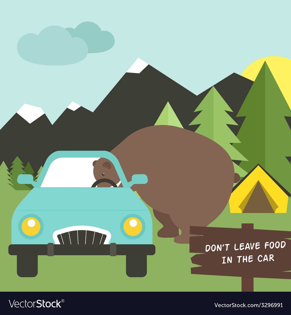 Camping rules vector | Price: 1 Credit (USD $1)