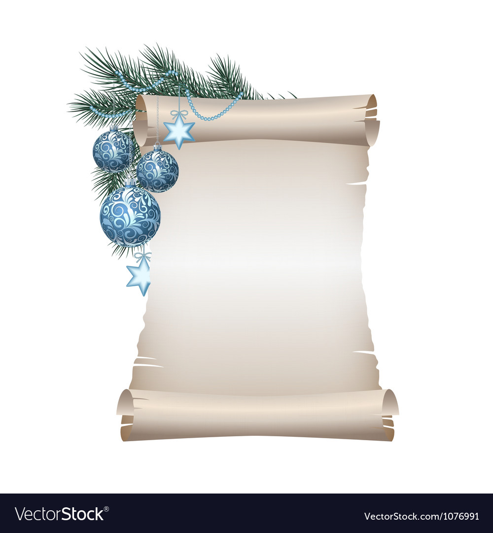Christmas scroll vector | Price: 1 Credit (USD $1)
