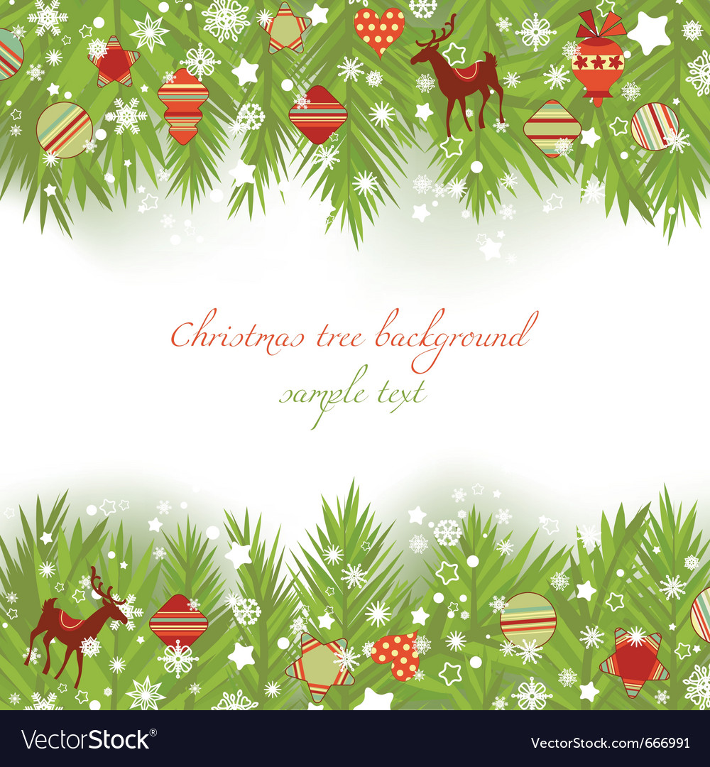 Christmas tree borders vector | Price: 1 Credit (USD $1)