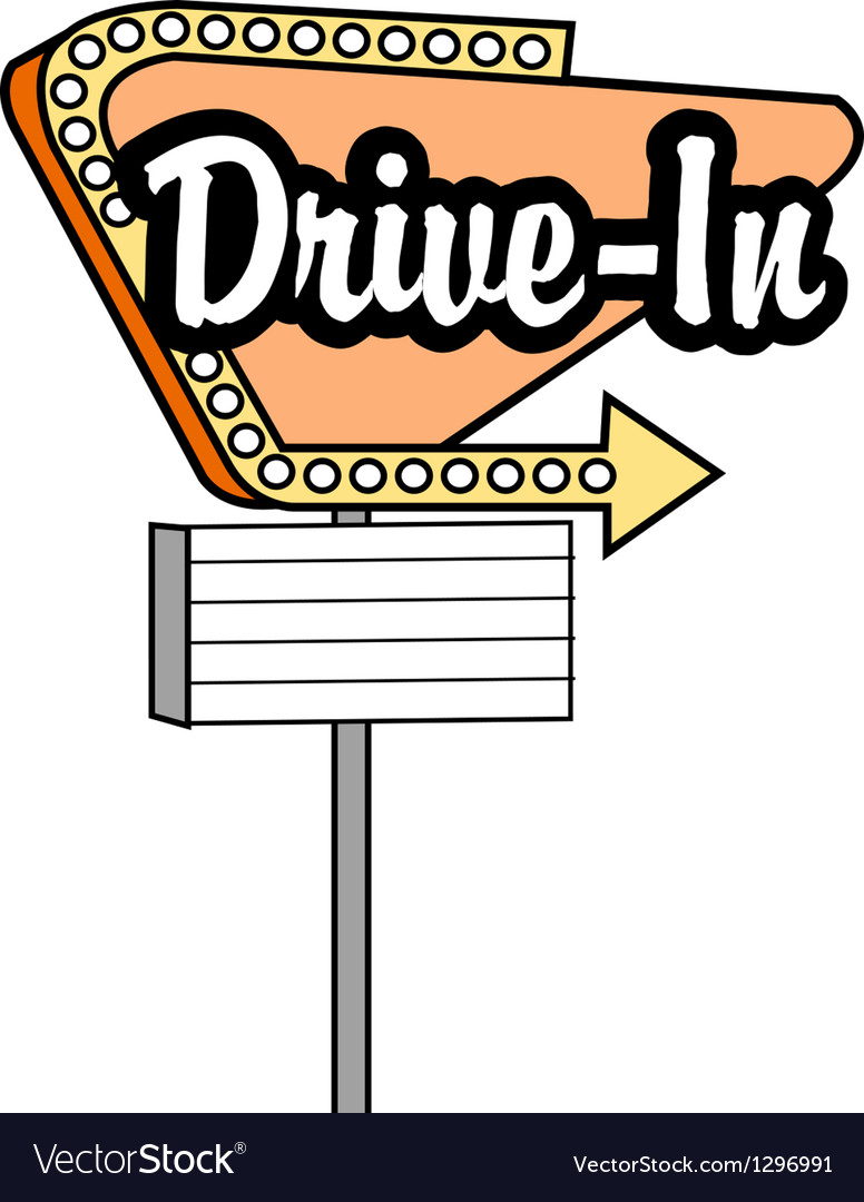 Drive in sign vector | Price: 1 Credit (USD $1)