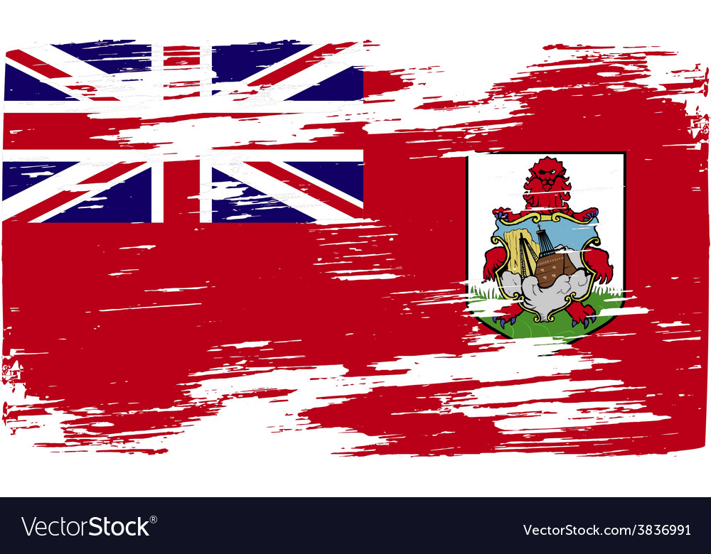 Flag of bermuda with old texture vector | Price: 1 Credit (USD $1)