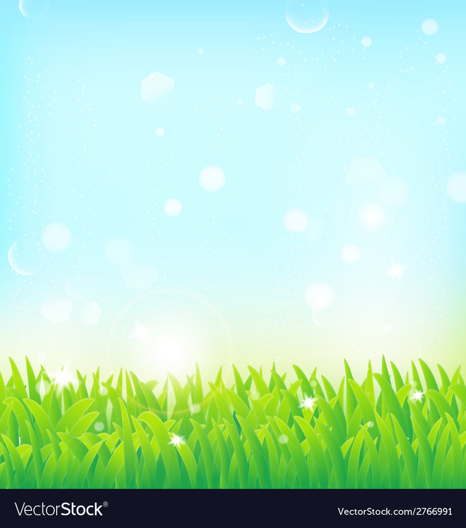 Light spring field background vector | Price: 1 Credit (USD $1)