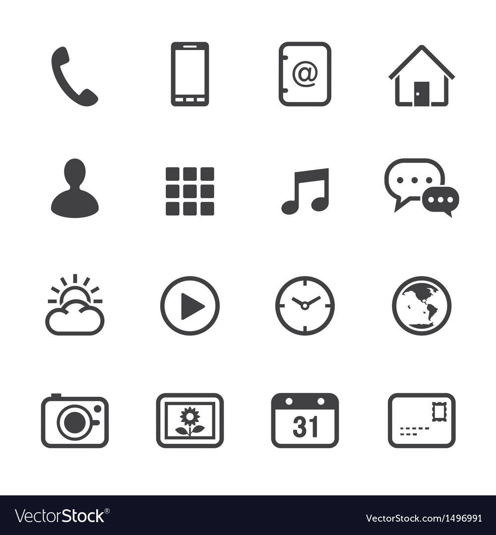 Mobile phone icons vector | Price: 1 Credit (USD $1)