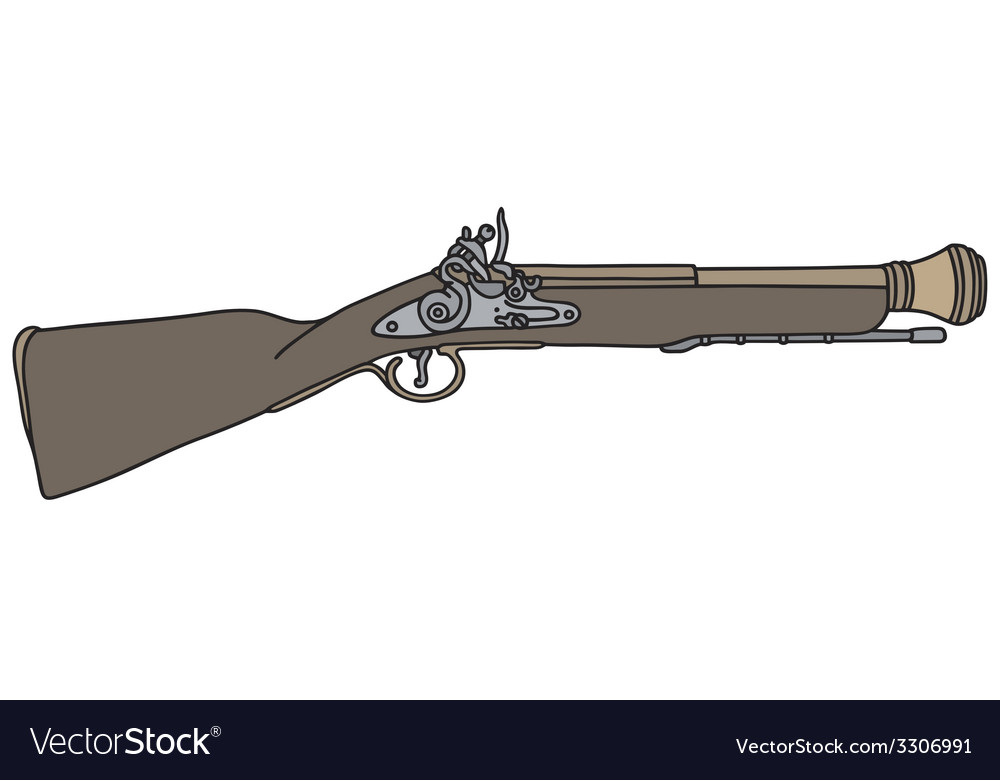 Old short rifle vector | Price: 1 Credit (USD $1)