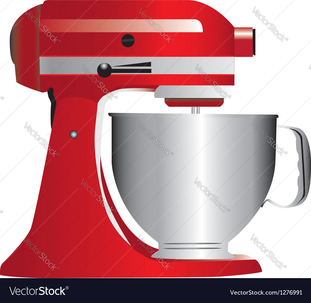 Red stand mixer vector | Price: 1 Credit (USD $1)
