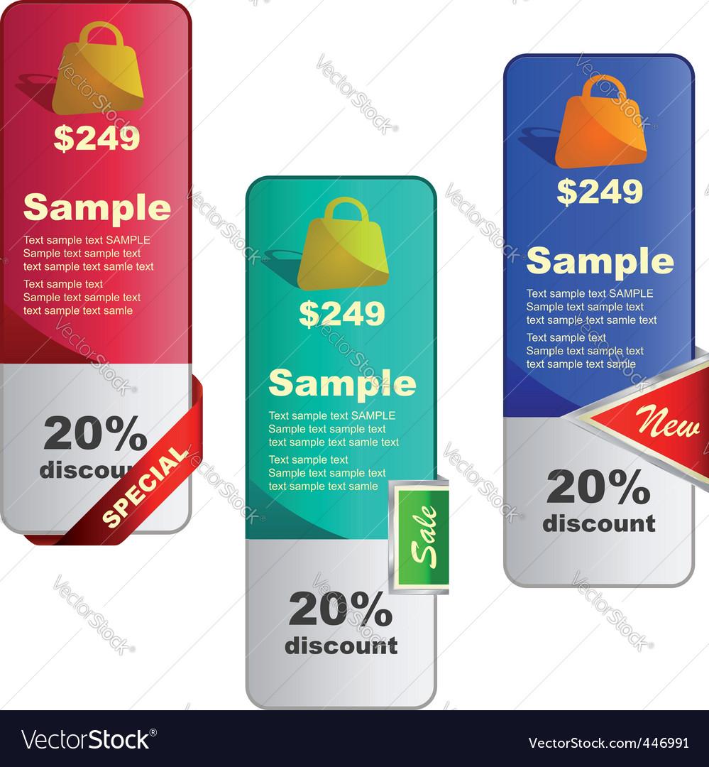 Sale signs vector | Price: 1 Credit (USD $1)