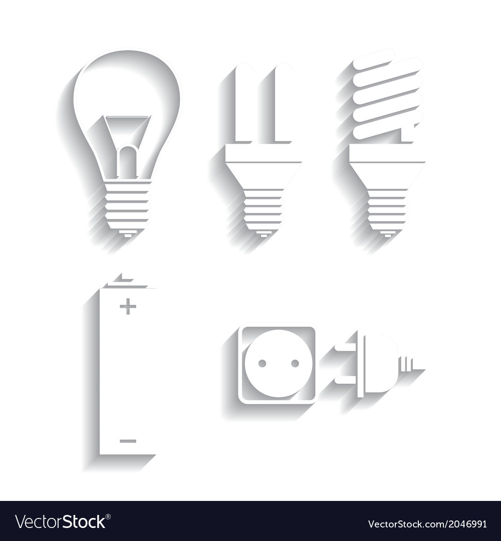 Set of energy electricity icons vector | Price: 1 Credit (USD $1)