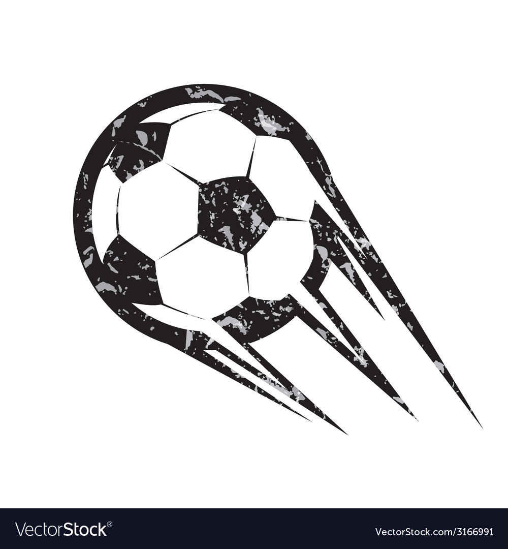 Soccer ball football symbol in grunge style vector | Price: 1 Credit (USD $1)
