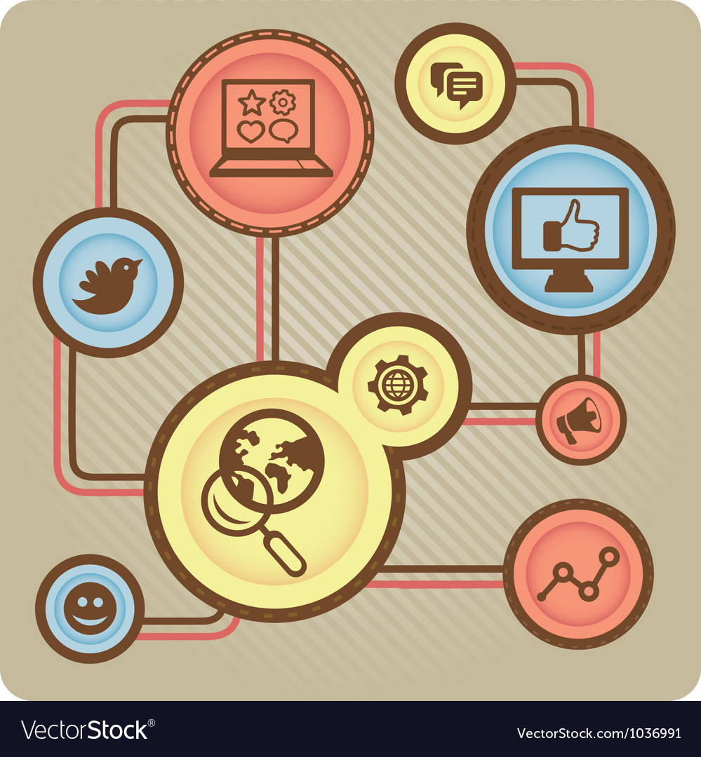 Social media concept with internet icons vector | Price: 1 Credit (USD $1)