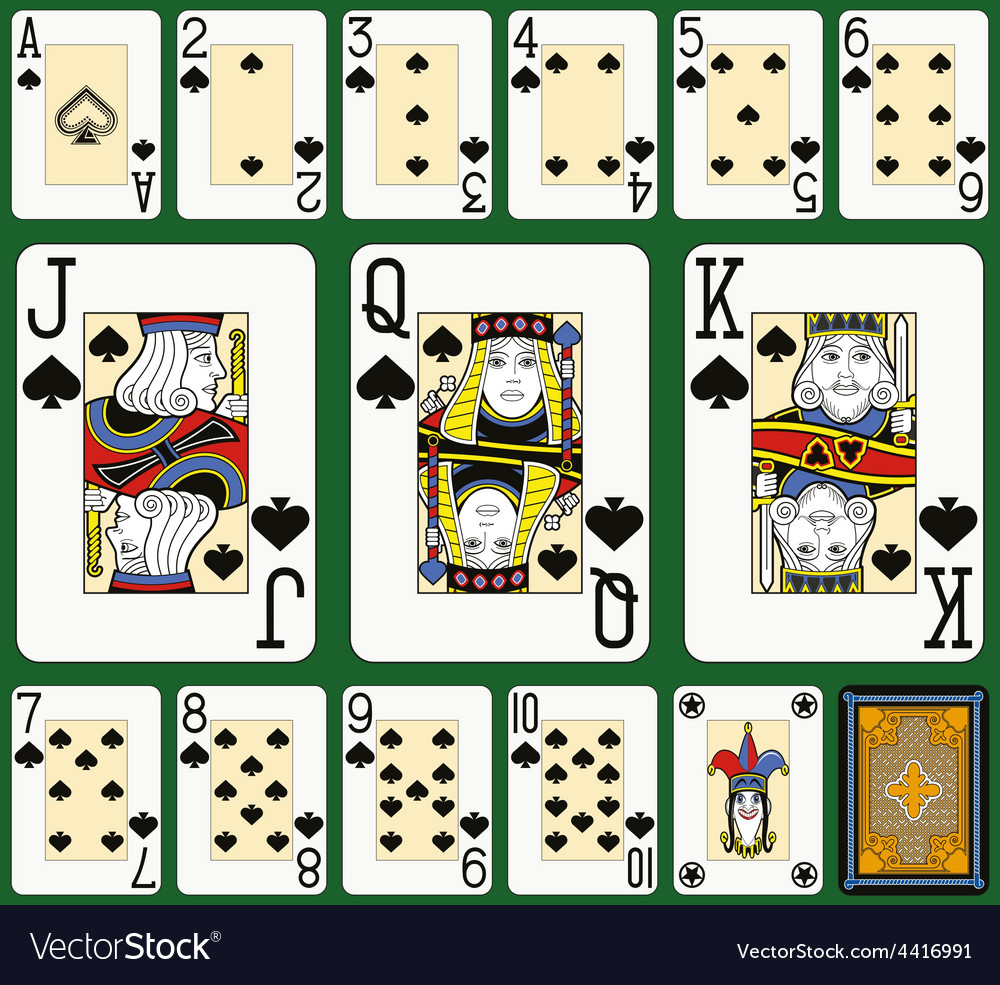 Spades suite black jack large figures vector | Price: 1 Credit (USD $1)