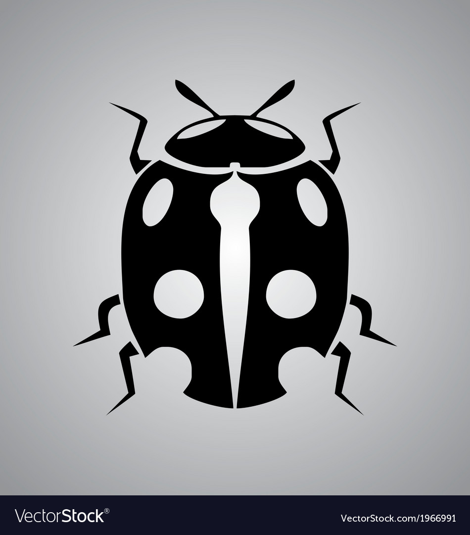 Tribal ladybug vector | Price: 1 Credit (USD $1)