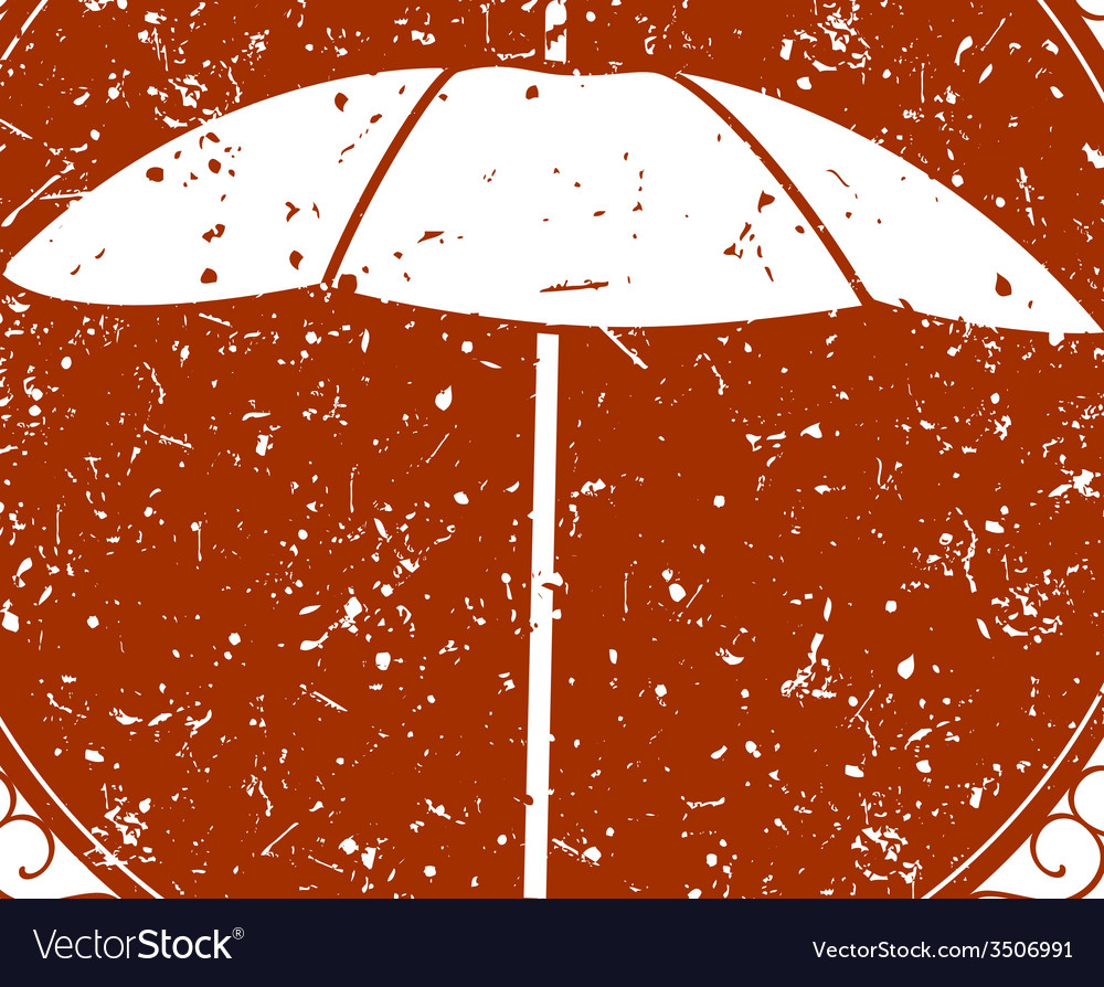 Vintage sign with umbrella vector | Price: 1 Credit (USD $1)