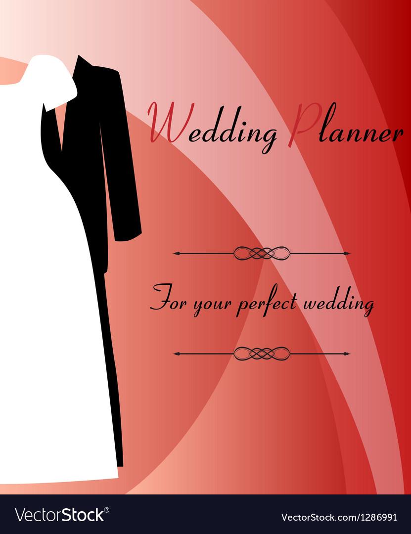 Wedding planner background vector | Price: 1 Credit (USD $1)