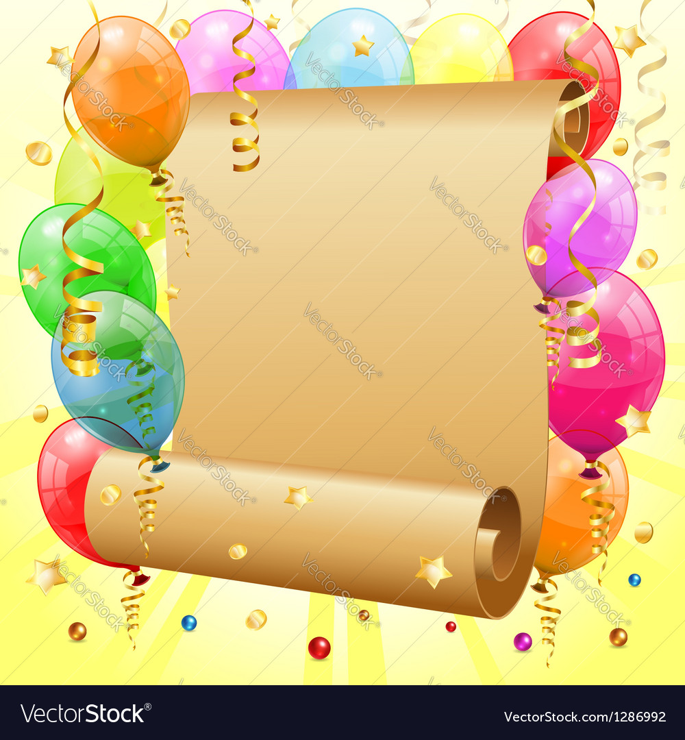Birthday frame vector | Price: 3 Credit (USD $3)