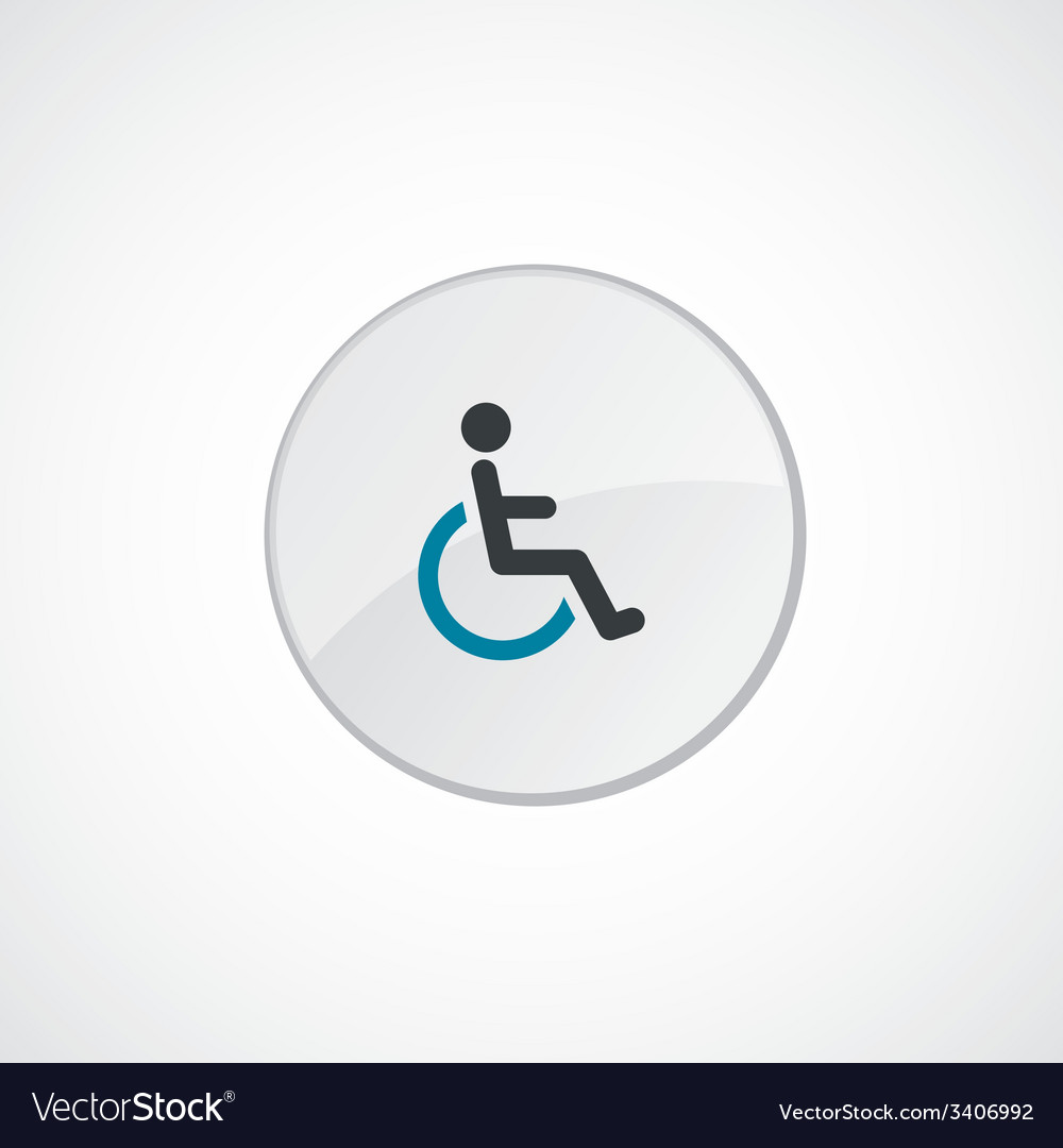 Cripple icon 2 colored vector | Price: 1 Credit (USD $1)