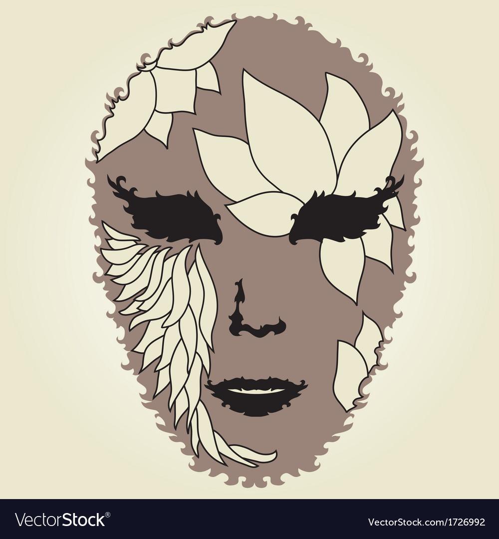 Decorative mask vector | Price: 1 Credit (USD $1)