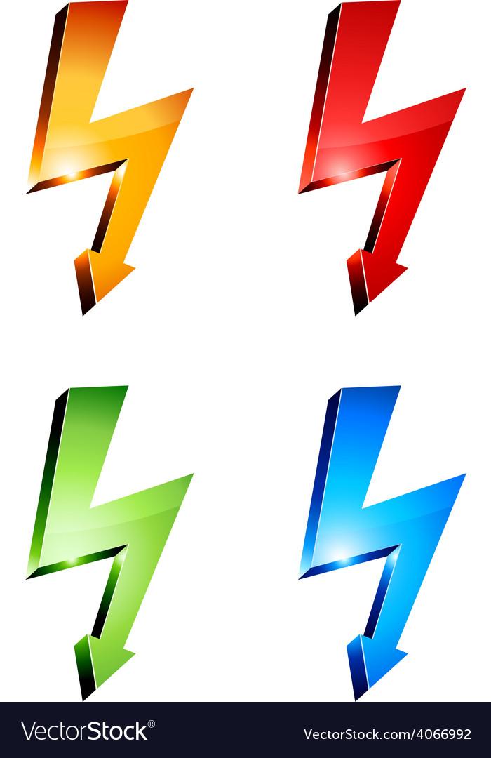 Electricity warning symbols vector | Price: 1 Credit (USD $1)
