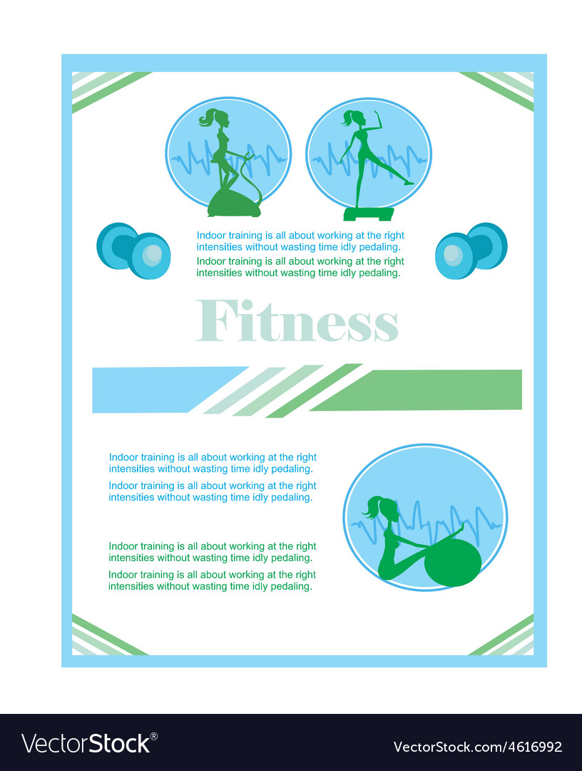 Fitness club flyer vector