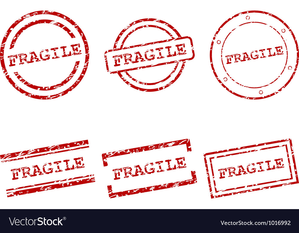Fragile stamps vector | Price: 1 Credit (USD $1)