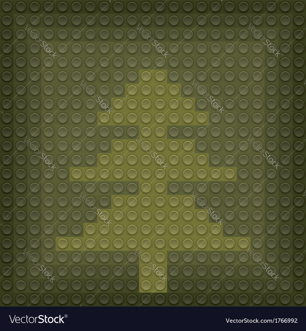 Lego christmas tree vector | Price: 1 Credit (USD $1)