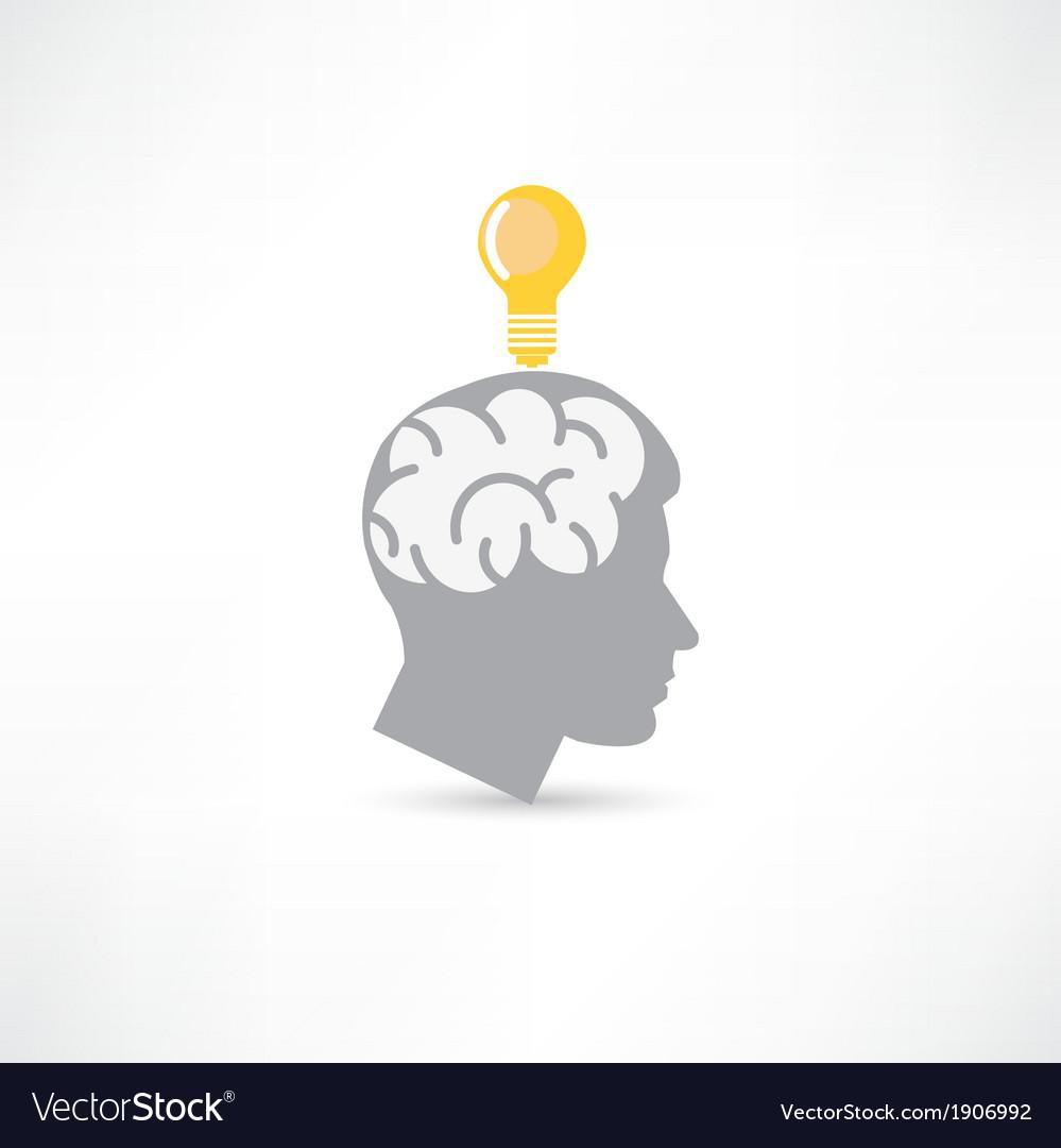 Man with idea icon vector | Price: 1 Credit (USD $1)
