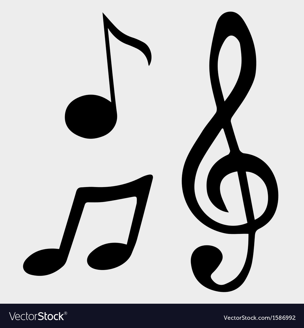 Music note symbols vector | Price: 1 Credit (USD $1)